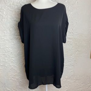 ZENANA OUTFITTERS Black Top Size 1X